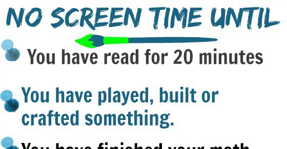 No Screen-time Until - yourmodernfamily