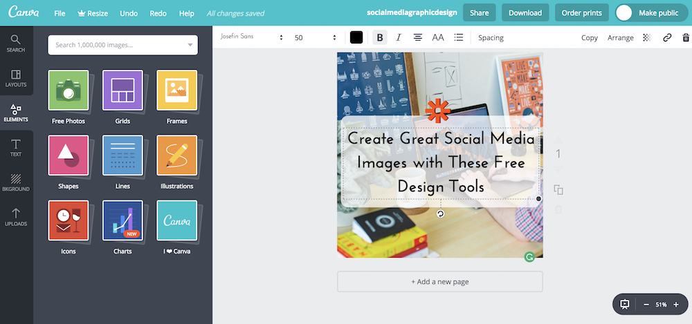 The 6 Best Free Design Tools to Create Social Media Graphics - create graphics