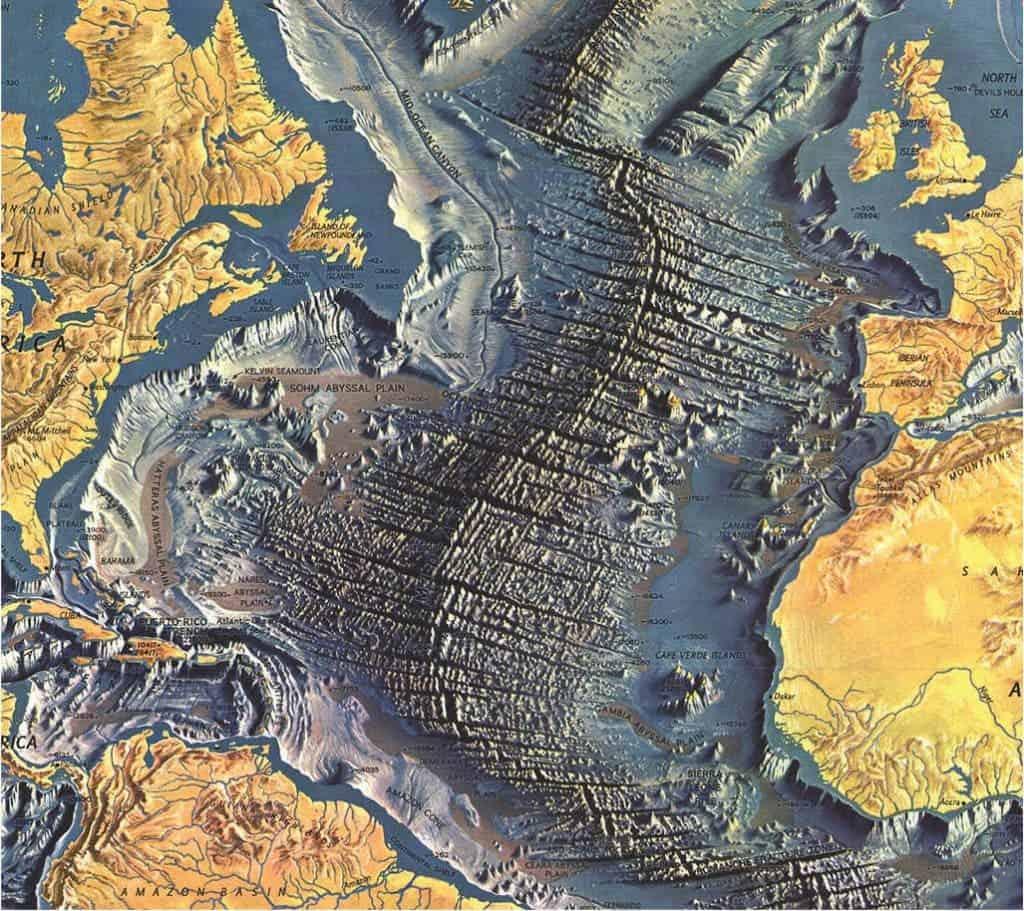 Geopicture Of The Week The Atlantic Ocean Floor