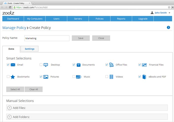 Overview - Zoolz Cloud Cloud Backup for businesses and home users