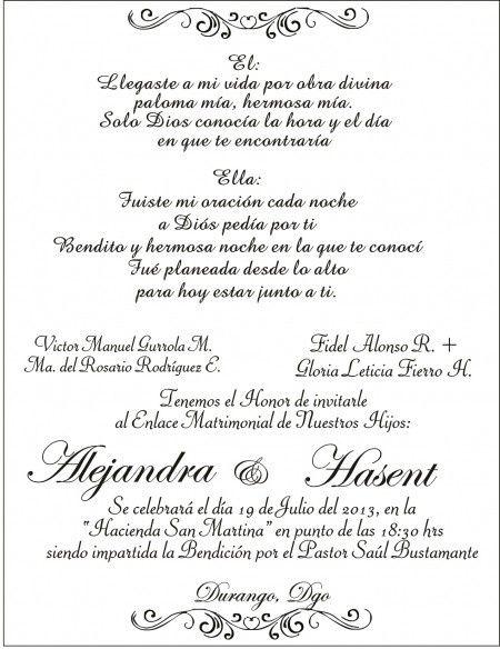 formato para invitacion de boda - Onwebioinnovate