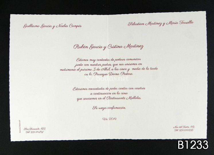 Formato de invitación B1233 de Top Copy Foto 6