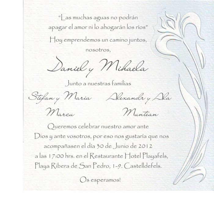 Que texto vais a poner en la invitaciÓn de boda - Antes de la boda