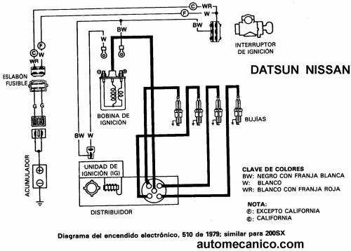 nissan 240sx diagrama de cableado