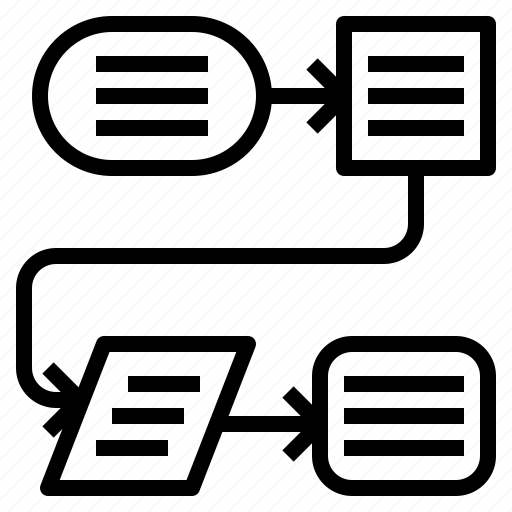 process flow diagram icon