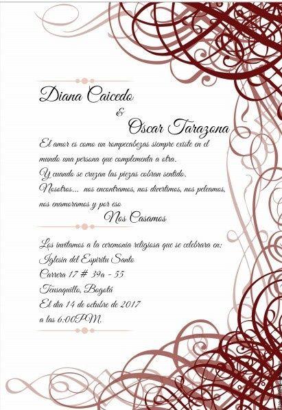 Plantillas Invitacion De Boda Invitacin Para Bodas Gratis With