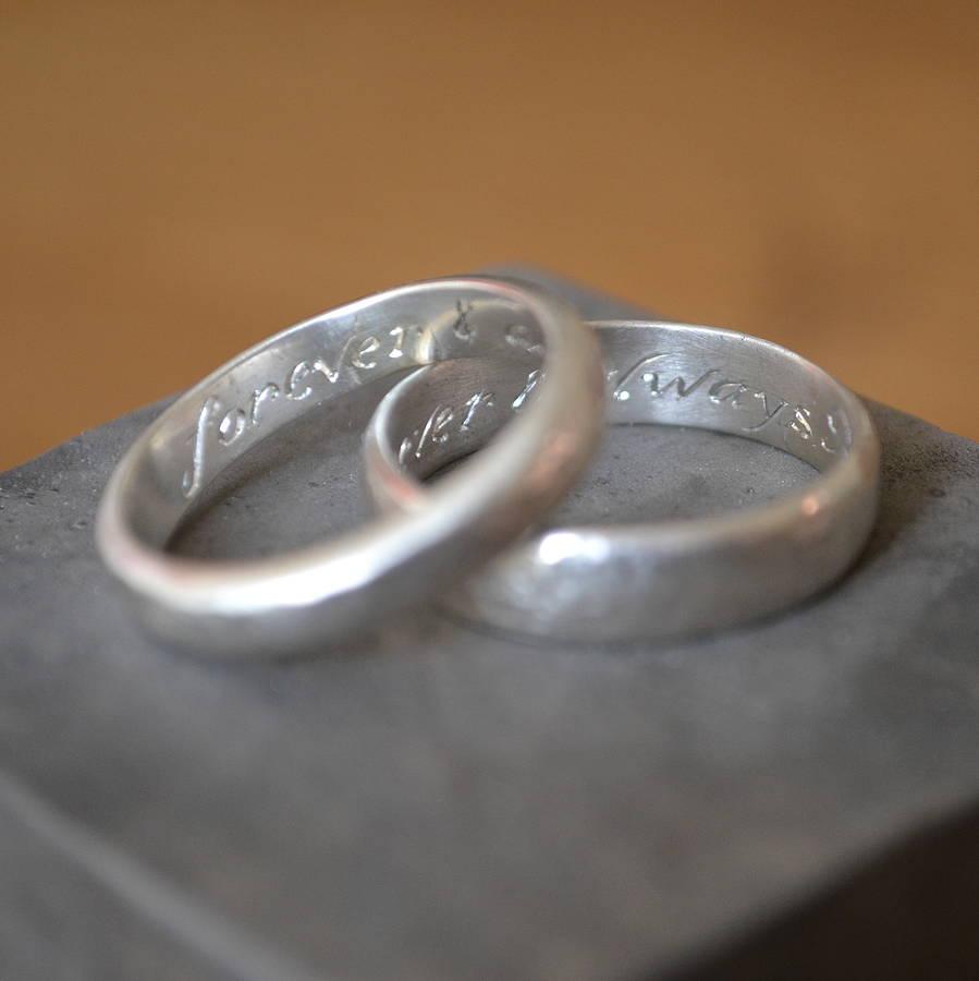 silver wedding rings exchange wedding bands