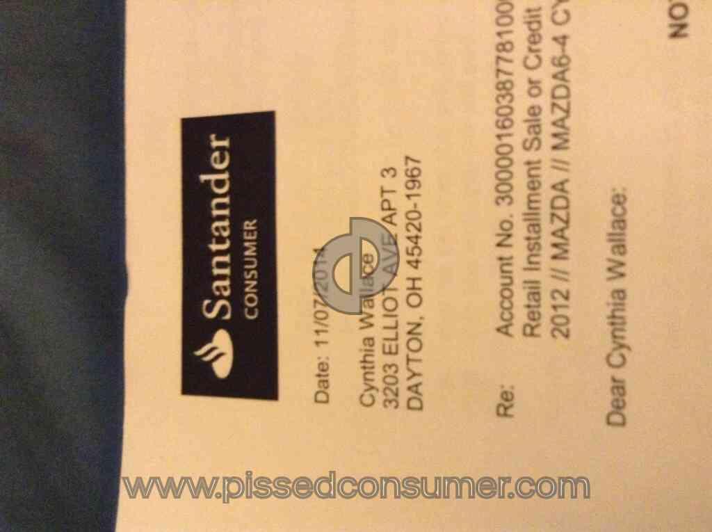 Santander Consumer Usa - I\u0027ve had made payments and still had my car