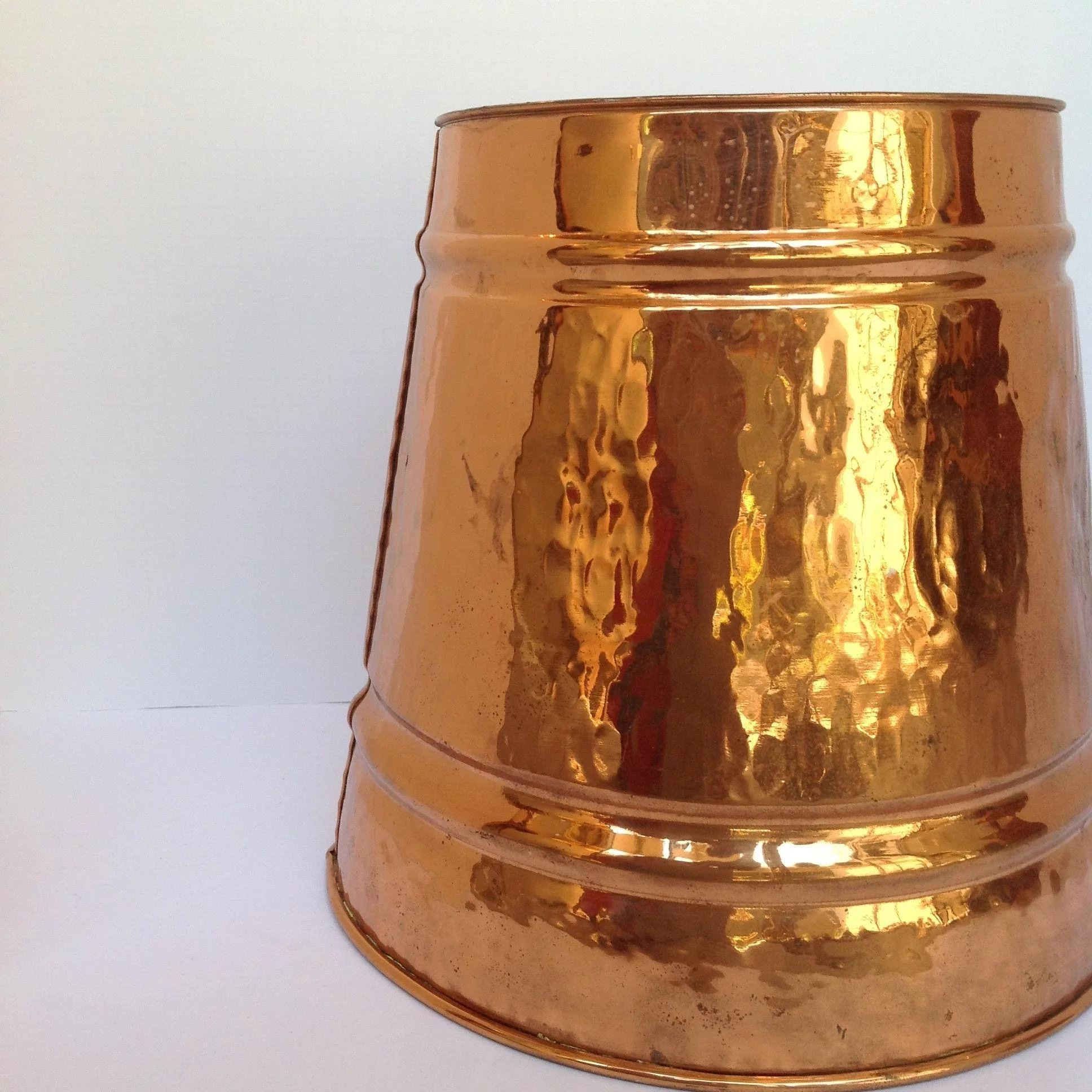 Copper Trash Can With Lid Hammered Copper Trash Can 1950 S