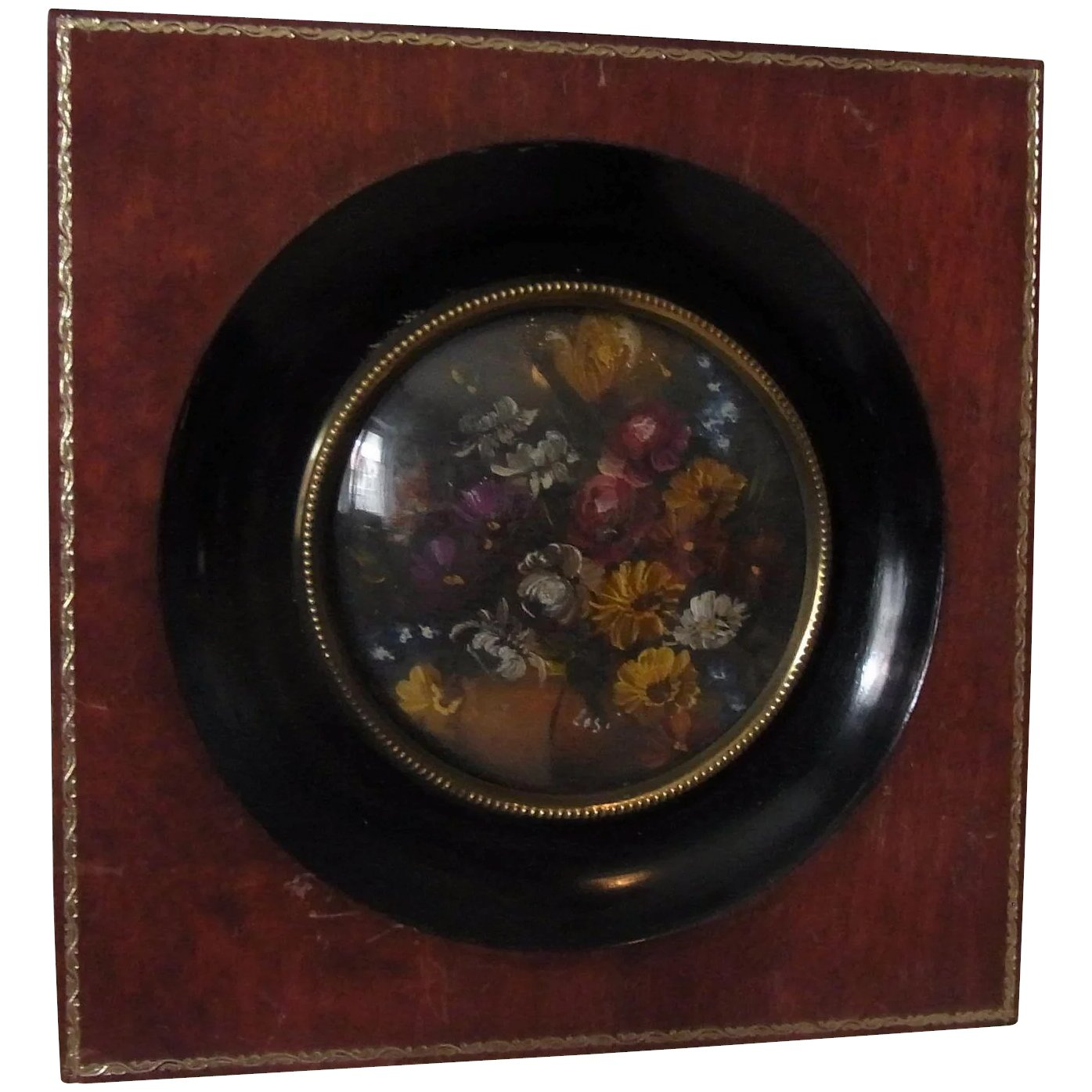 Salon Nuremberg Antique German Painting Salon Picture Flower Still Life