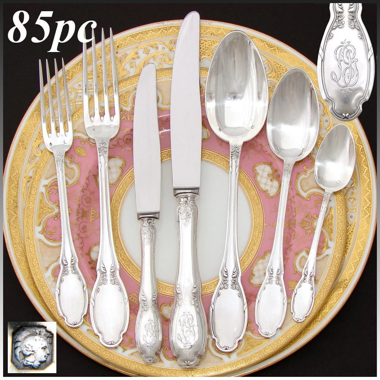 Elegant Flatware Sets Elegant Antique French Sterling Silver 85pc Flatware Set