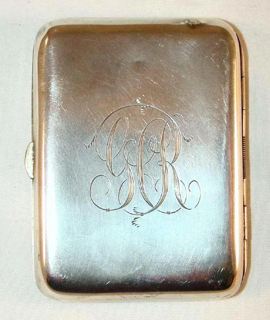 monogrammed cigarette case