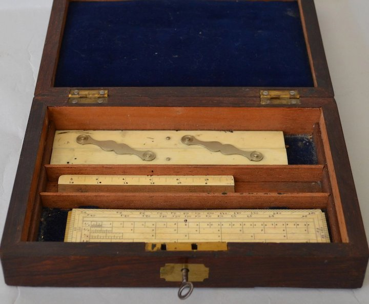 Antique Drafting Set in Rosewood Case  England\u0027s Country Treasures