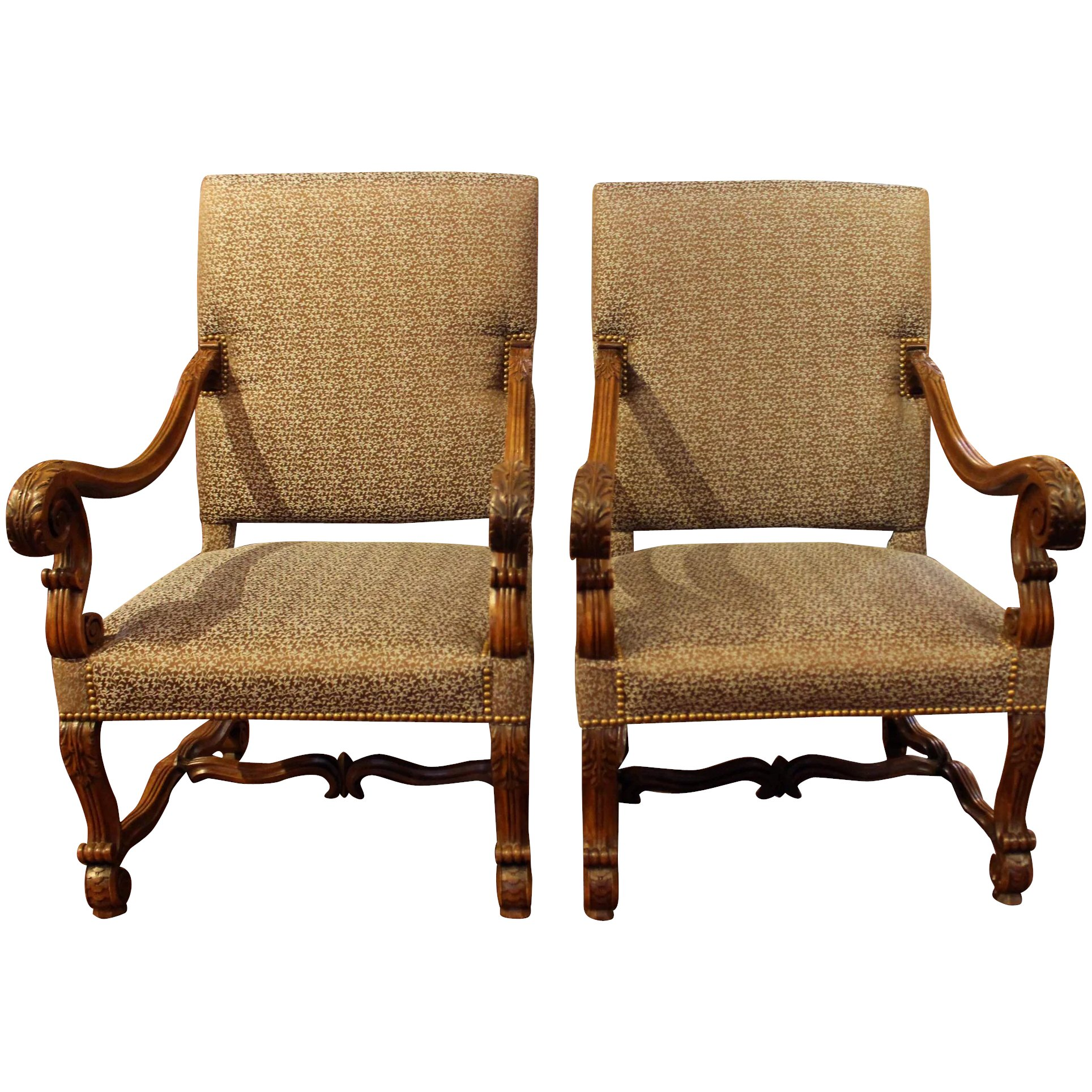 Fauteuils Louis 13 Pair Of Louis Xiii Style Fauteuils