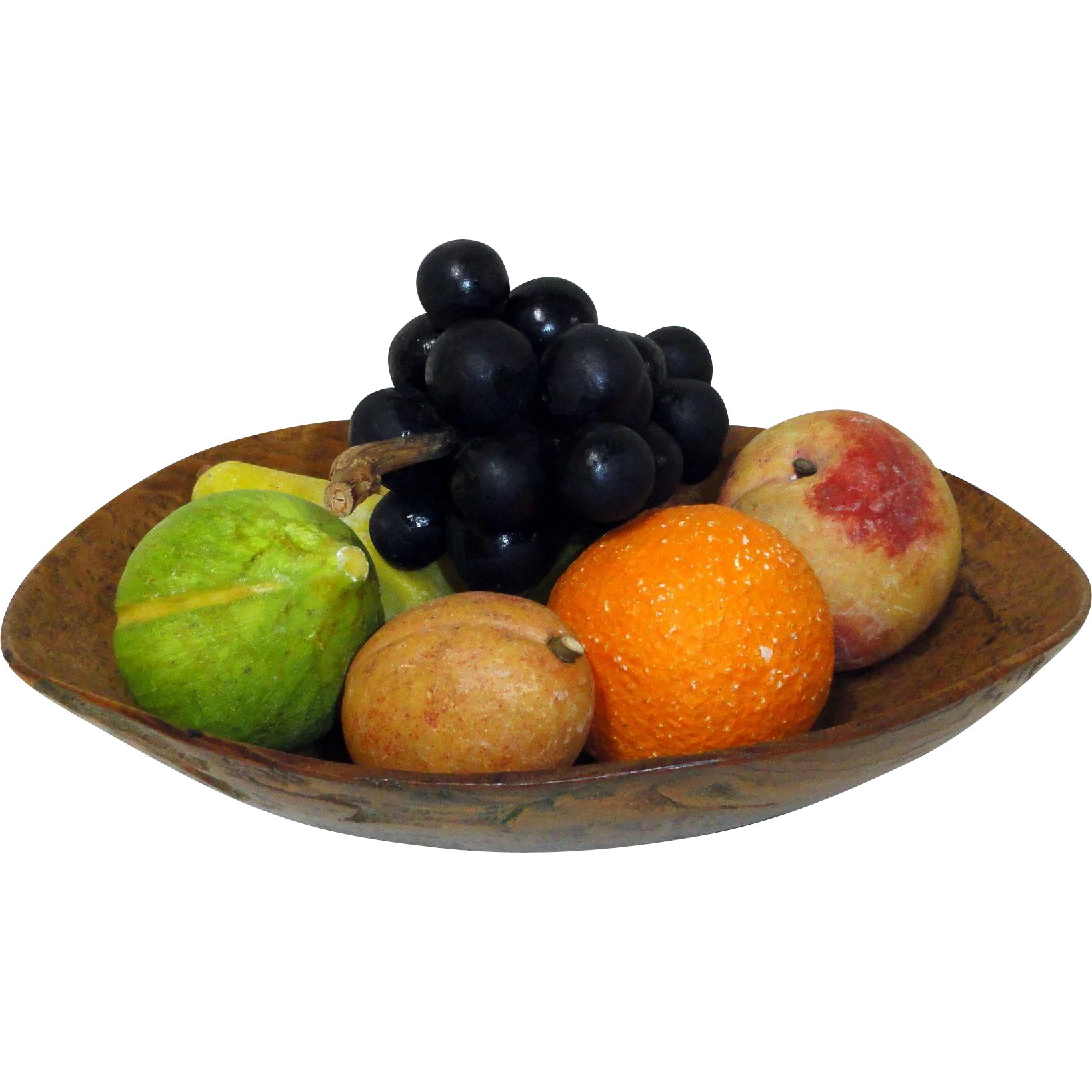 Boutique Orange Sarreguemines Collection Of 8 Pieces Of Stone Fruit 14 E King Ruby Lane