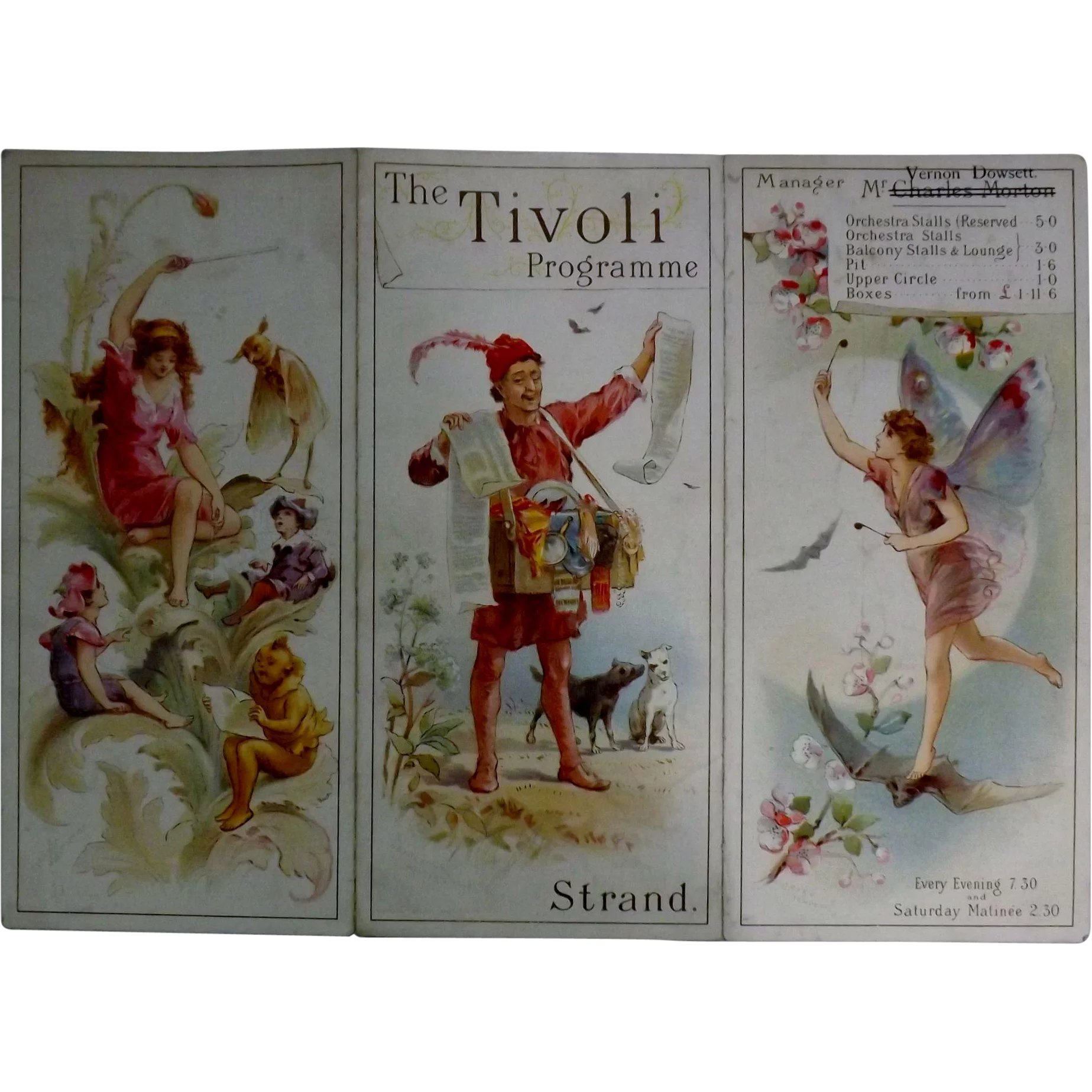 Tivoli Strand Lighting Theatre Program Quotthe Tivoli Quot The Strand London 1893