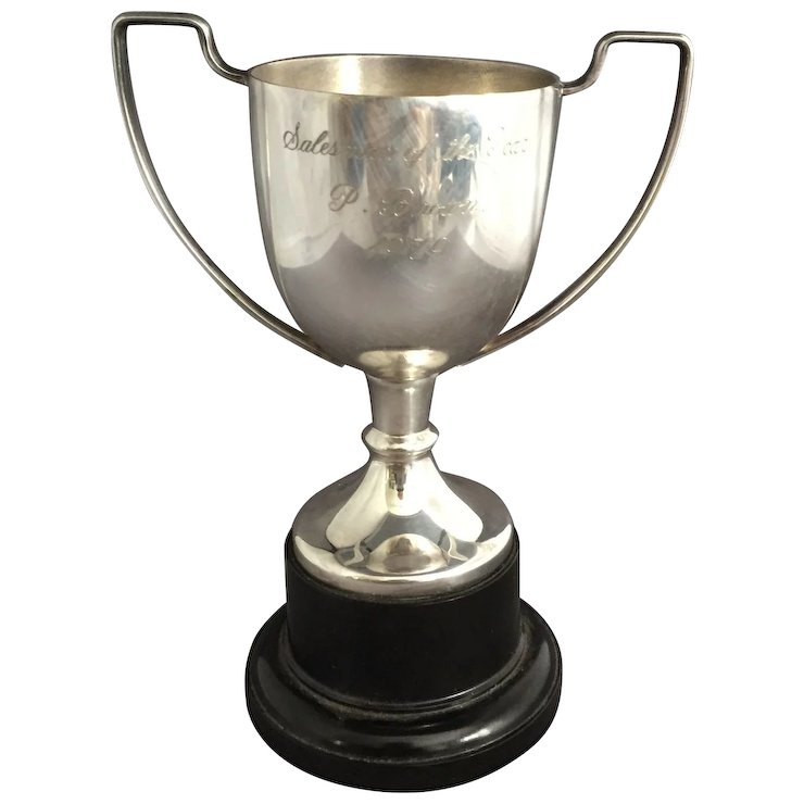 English Silver Plate Trophy Salesman of the Year SOLD Ruby Lane