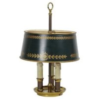 Vintage Frederick Cooper Bouillotte Style Brass Lamp With ...