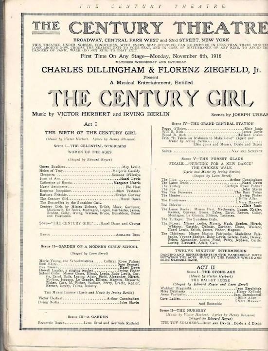 Century Theatre Program Leyendecker Cover, Ziegfeld Raphael Kirchner