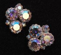 Aurora Borealis Rhinestone Earrings : The Wright Glitz ...