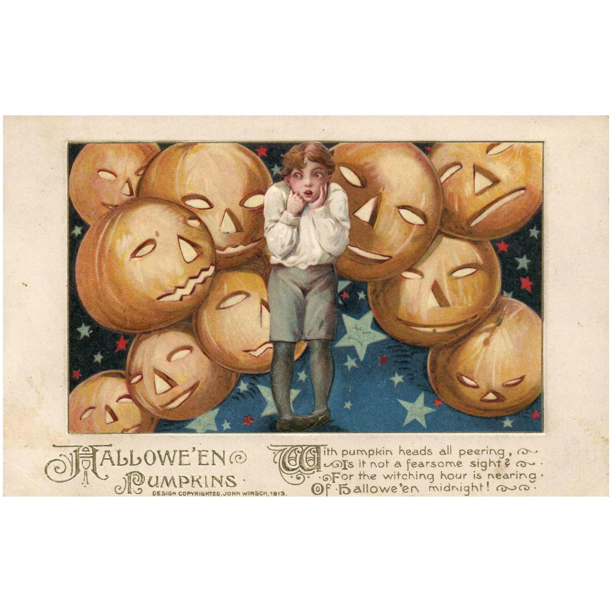 Halloween Schmuck 1913 John Winsch Samuel Schmucker Halloween Boy With Jack