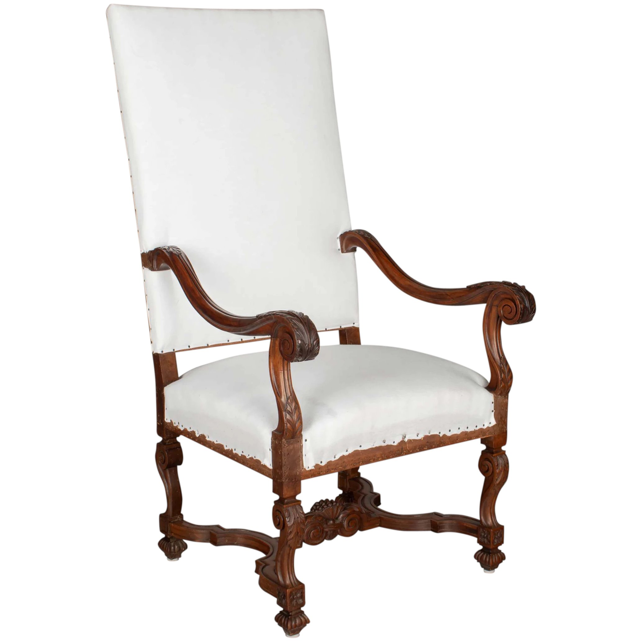 19th French Louis Xiii Style Fauteuil Or Arm Chair Olivier Fleury Inc French Antiques Ruby Lane