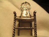 """Miniature Silver Chair with Fisherman - 2 3/8"""" High ..."""
