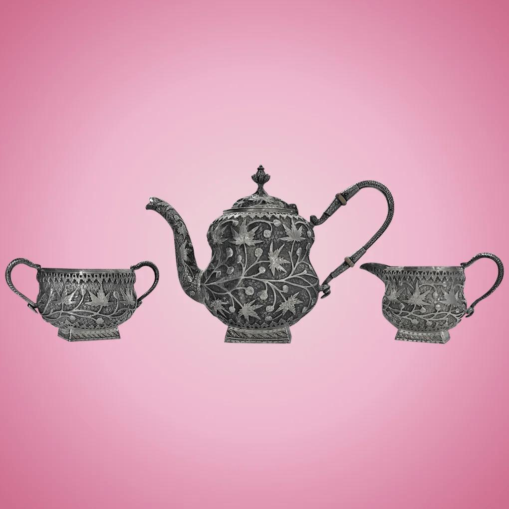 Fullsize Of Silver Tea Set