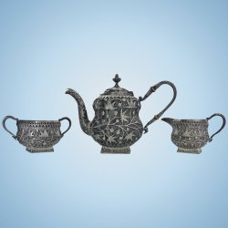 Small Of Silver Tea Set