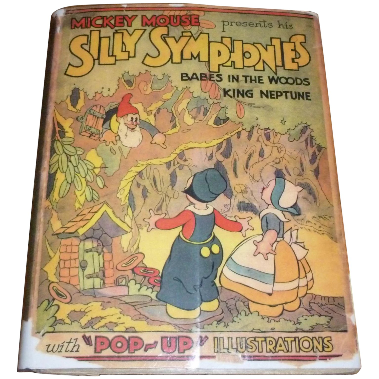 Pop Up Book Cover 1933 Disney Silly Symphonies Pop Up Book