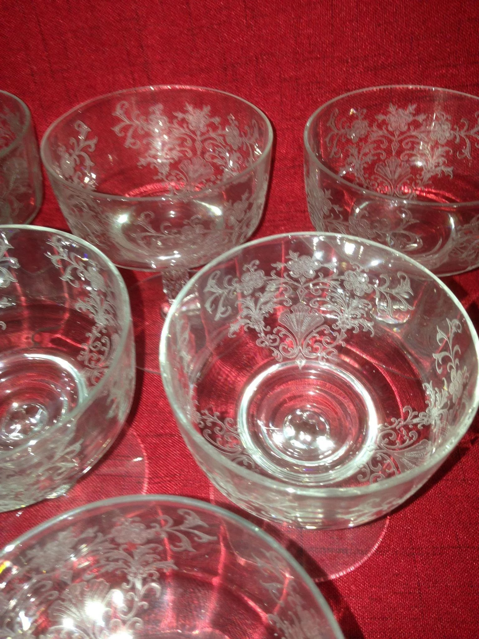 High End Crystal Wine Glasses 10 Beautiful High End Etched Crystal Shebert Glasses C 1940