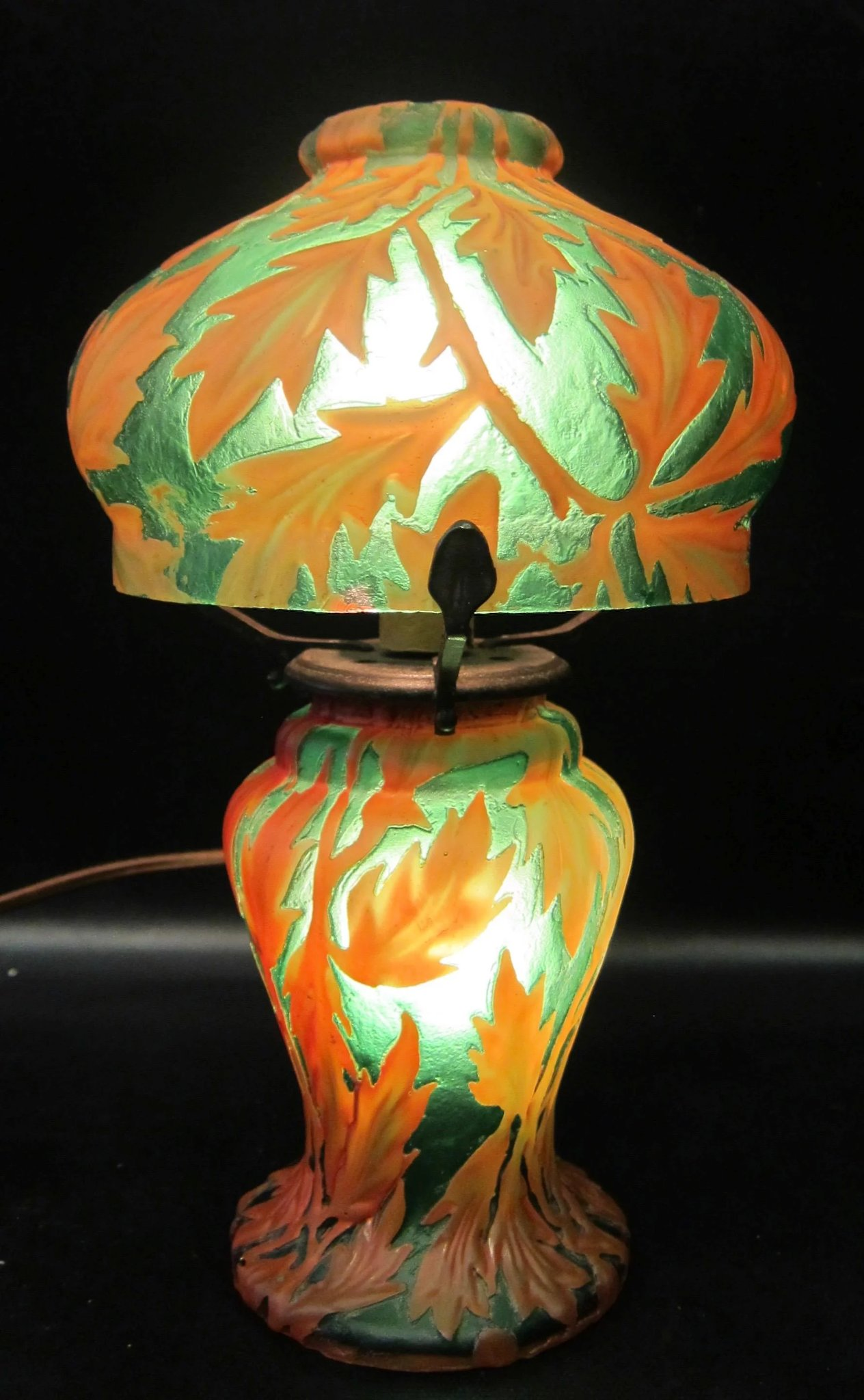 Glass Lamp Art Vintage Cameo Art Glass Lamp