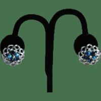 Lisner Blue Rhinestone Earrings from theopulentowl on Ruby