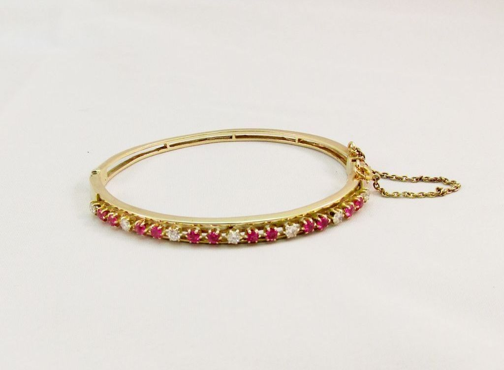 Vintage Fine Diamond And Ruby Bracelet From Warejewelry On