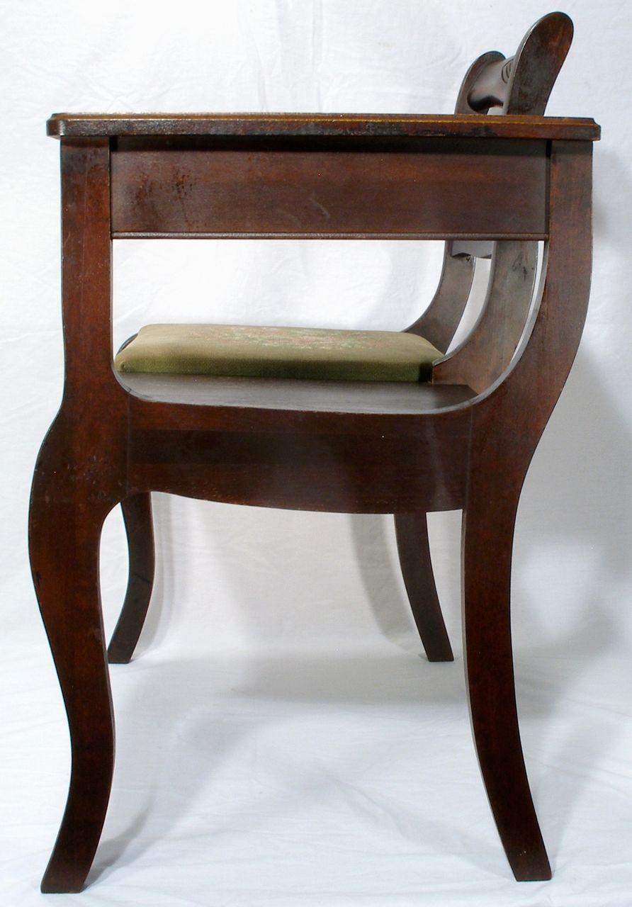 Vintage Frankson Mahogany Wood Telephone Phone Table
