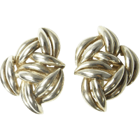 Statement Earrings Sterling Silver Clip On Earrings