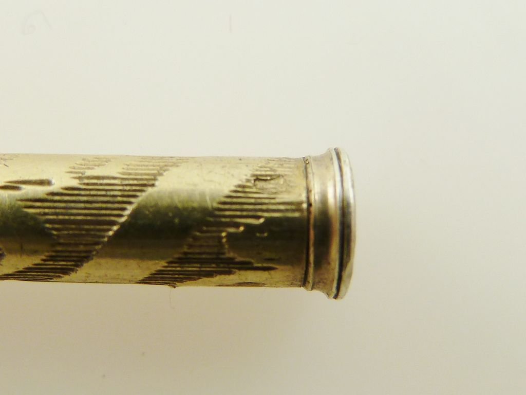 Novelty Toothpicks An Antique French Silver And Vermeil Propelling Toothpick