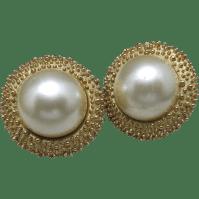 Trifari Earrings Elegant Clip On FAUX pearls from ...