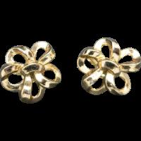 Trifari earrings GOld tone MetAL Clip on from ...
