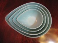 Fire King Swedish Modern Tear Drop Mixing Bowls Full Set 4 ...