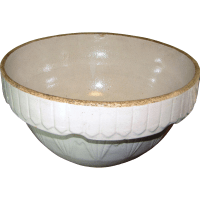 Antique Ruckel's Stoneware Pottery Mixing Bowl, 10 ...