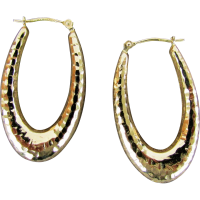 14K Hammered Gold Oval Hoop Earrings from Bolivia SOLD on ...