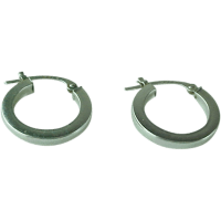 Vintage 14K White Gold Small Hoop Earrings from ...