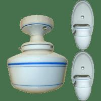 Vintage Set Alabax Porcelain Light Fixtures from ...