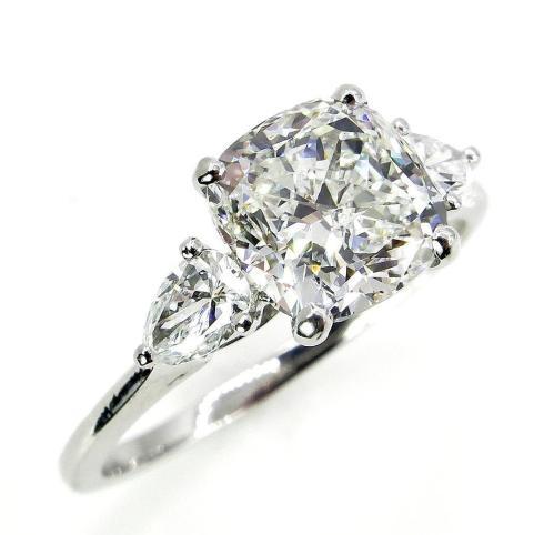 Medium Of Cushion Cut Engagement Rings