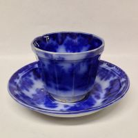 George Alcock SCINDE Flow Blue Tea Cup & Saucer from ...