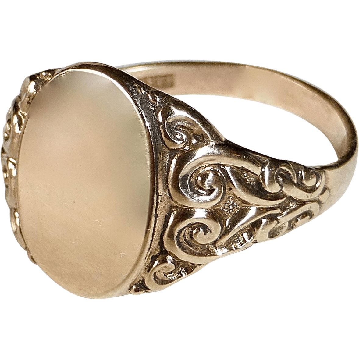 oval monogram ring