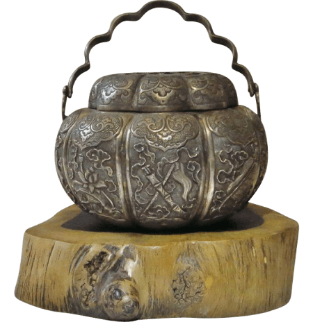 Antique Chinese silver censer