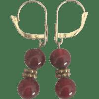 14K Carnelian Lever Back Pierced Earrings from ...