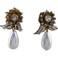Vintage Miriam Haskell Earrings from rubylane-sold on Ruby ...